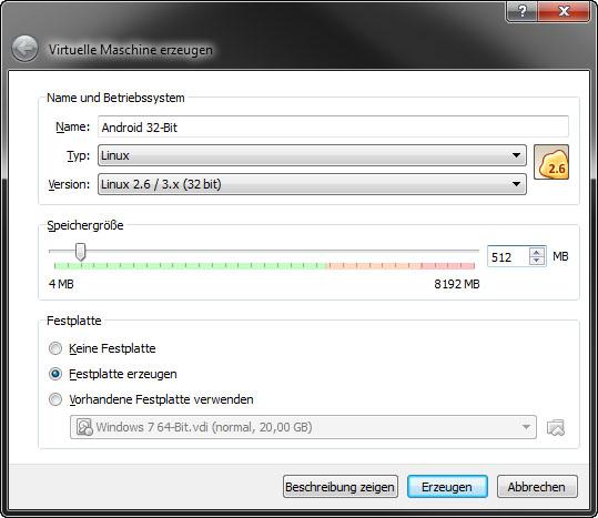 Virtualbox Anleitung