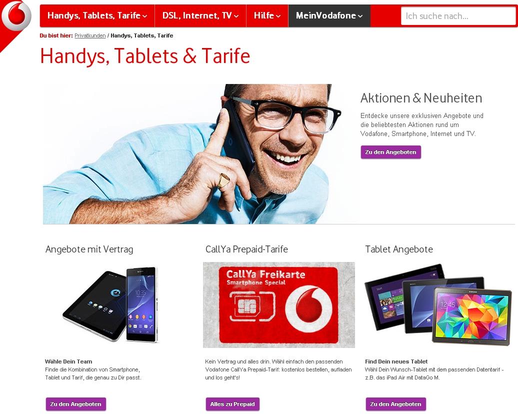 Vodafone Vertragsübernahme Handy Internet Festnetz übertragen
