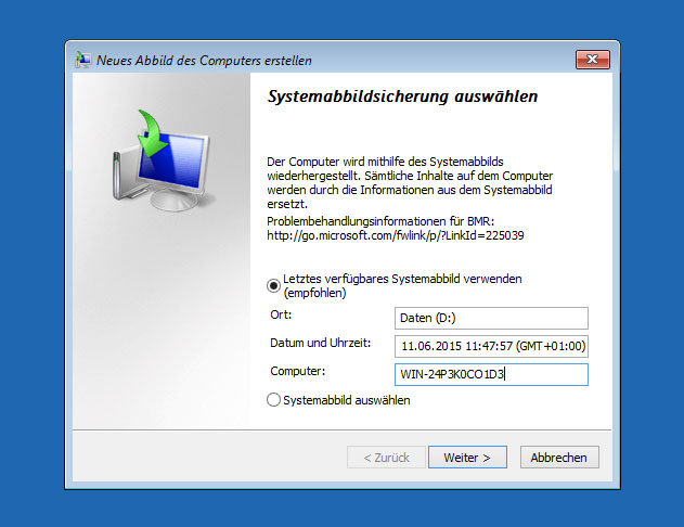 Windows 10 7 recovery cd erstellen so geht s giga - Console de recuperation windows 7 ...