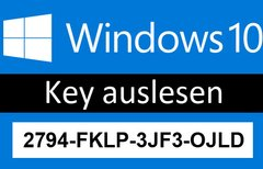 Windows-10-Key auslesen – So...