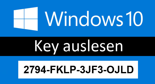 windows cd key auslesen cmd