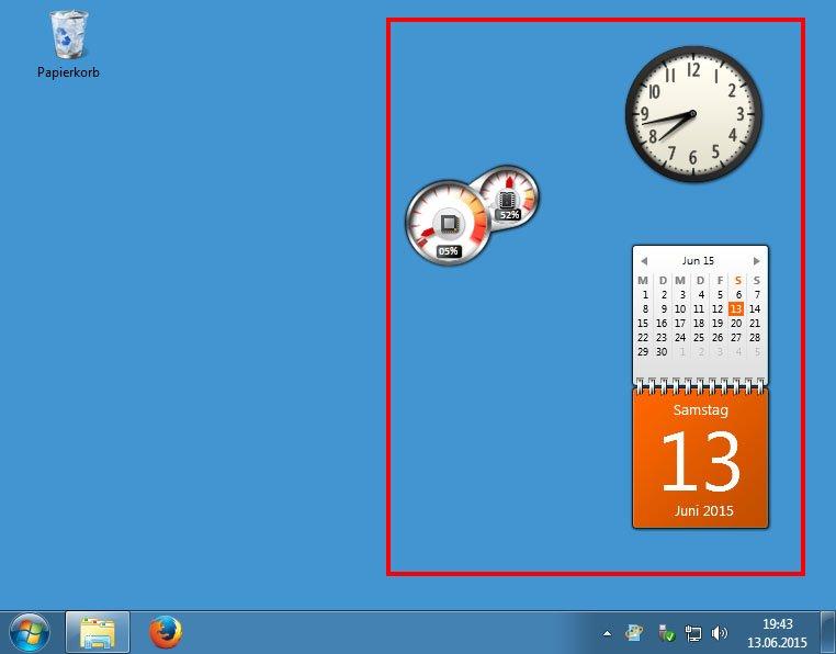 Auch die Minianwendungen gibt es in Windows 10 nicht mehr.