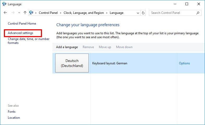 windows 10 auf deutsch umstellen