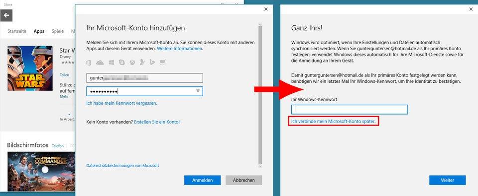 Windows Kontonamen umändern (kein lokales Konto)