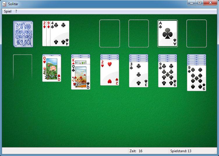 Kartenspiele Solitär