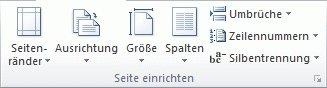 Word-Abschnittswechsel - Typ