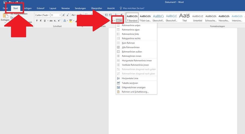 Word-Rahmen um Text, Bild und Seite einfügen: So geht\'s – GIGA