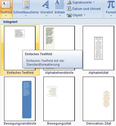 Word-Textfeld-drehen - einfügen