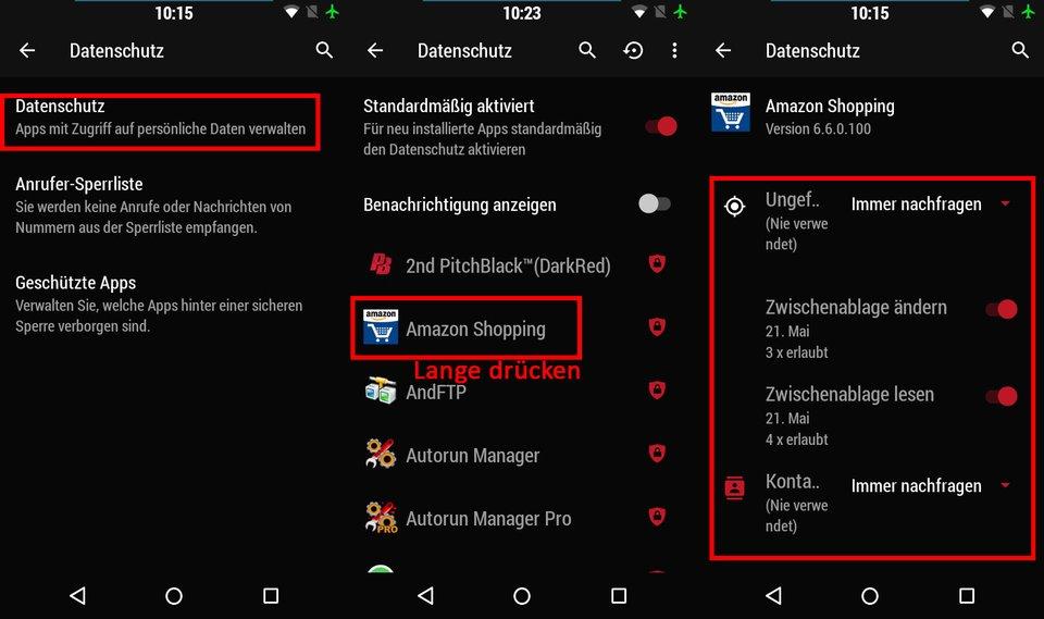 Android 6.0: Hier lassen sich App-Berechtigungen einschränken.