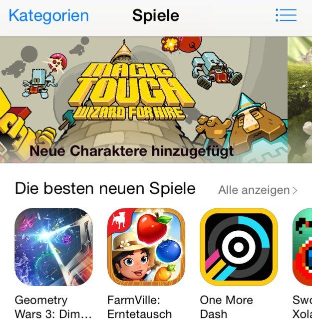 App Store: Apple bewirbt Spiele jetzt selektiver