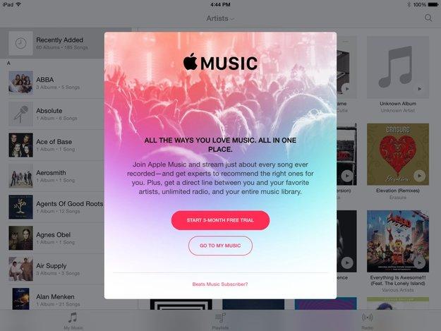 Apple Music: iOS-8.4-Beta-Tester erhalten bereits Hinweise