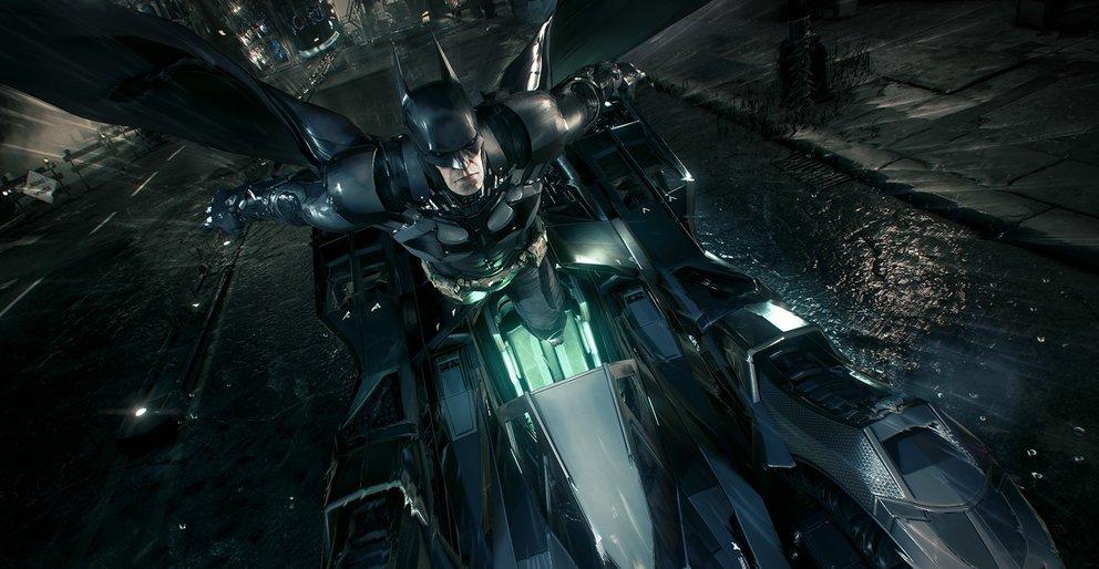 Mit dem Schleudersitz katapultiert ihr euch in den Himmel von Gotham City.