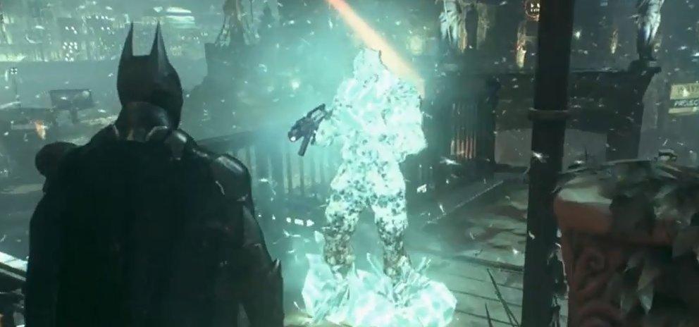 Batman Arkham Knight Freeze Schuss