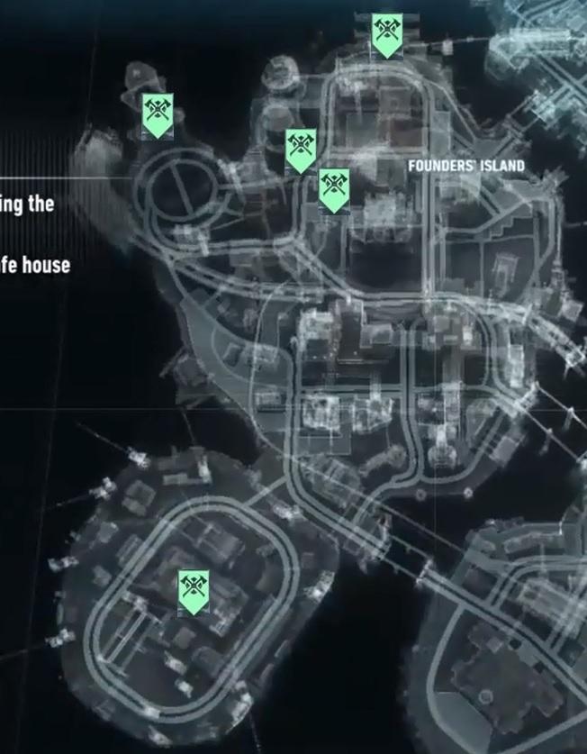 Batman - Arkham Knight: Feuerwehrmänner - Karte mit allen