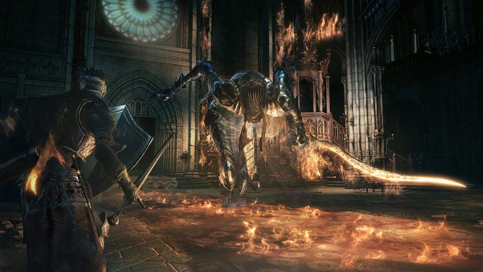 Dark Souls 3: Bosskämpfe gehören wieder zu den Highlights im Rollenspiel.