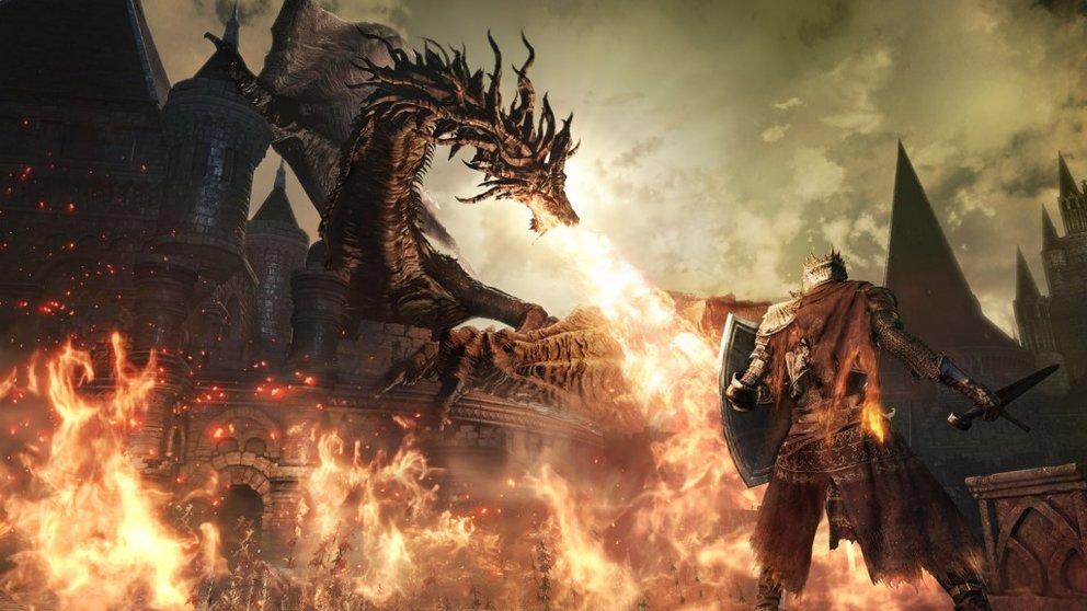 Dark Souls 3: Drachen dürfen natürlich in keinem Souls-Spiel fehlen.