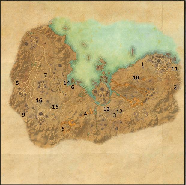 Elder Scrolls Online Interactive Map on