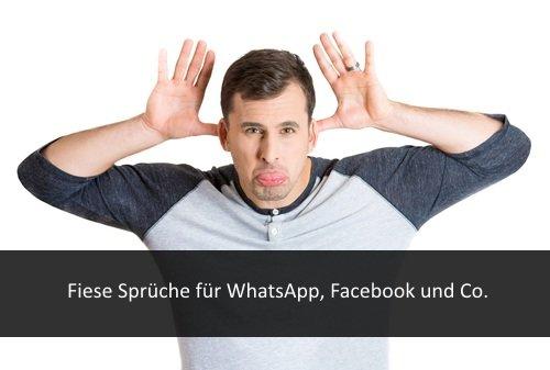 Fiese Sprüche Für Facebook Whatsapp Und Falsche Freunde