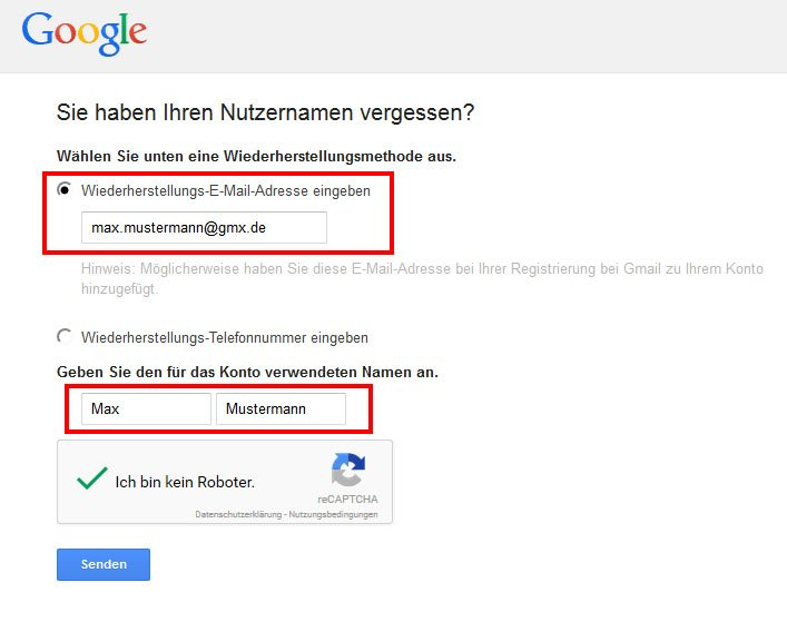Meine E Mail Adresse Lautet gmail adresse vergessen android smartphone gesperrt was tun giga