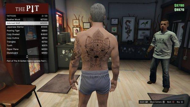 GTA 5 Ill-Gotten Gains: Tattoos - Screenshots der neuen Körperkunst des DLC