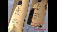 HTC One M9: iPhone 6 für Werbefotos der 24 Karat Gold-Version verwendet