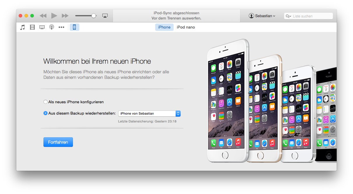 Backup iphone wiederherstellen itunes