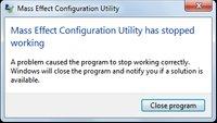 Mass Effect startet nicht: Configuration Utility und andere Probleme