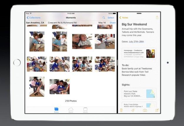Multitasking in iOS 9: Split View, Slide Over und Bild-im-Bild