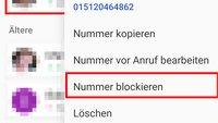 Android: Nummer blockieren & Blockierung aufheben – so geht's