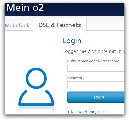 o2-Webmail-Login - Kundencenter