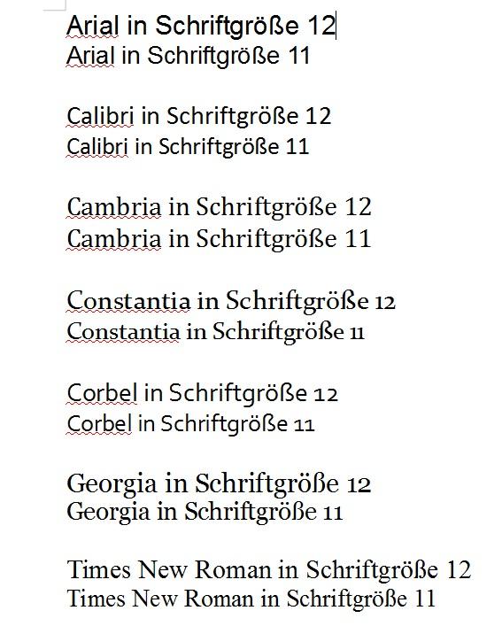 bewerbung schriftgre - Bewerbung Schriftart Und Grose