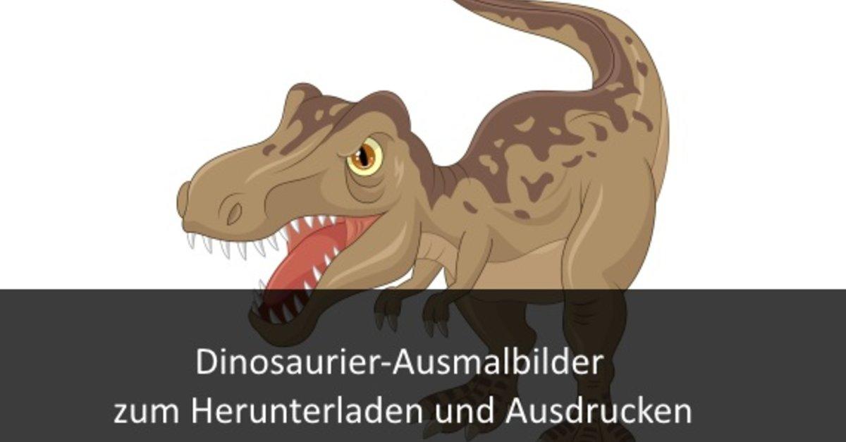 Dinosaurier-Ausmalbilder kostenlos zum Ausdrucken online – GIGA