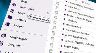 Leere E-Mail mit Fragezeichen: Spam-Offensive auf Postfächer bei GMX und Web.de