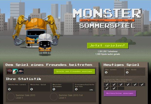 Steam Summer Sale 2015: Monster Sommerspiel - So wird gespielt