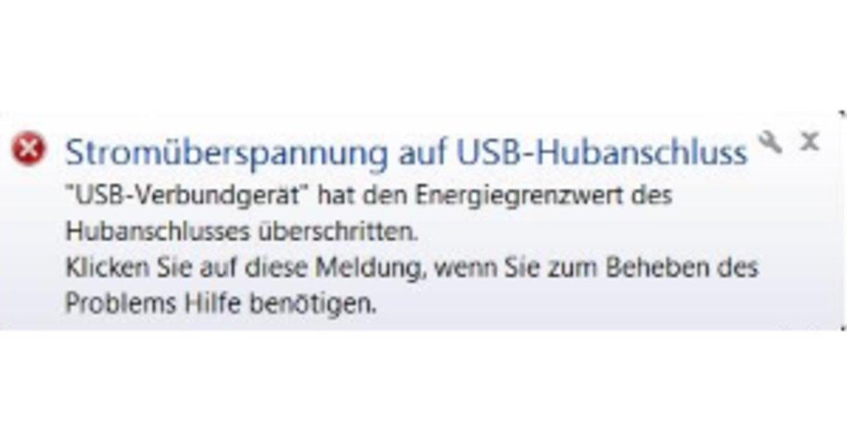 """Stromüberspannung auf USB-Hubanschluss"""": Fehler beheben – GIGA"""
