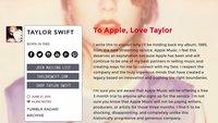 Gerüchte um Auftritt von Taylor Swift beim Apple Event