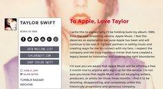 Taylor Swift vs. Apple: Hintergründe zum Streit um Apple Music