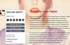 Taylor Swift spricht über...