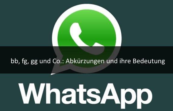 Abkürzungen Für Whatsapp