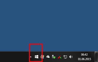 Im System-Tray bietet euch Windows die Reservierung für Windows 10 an.
