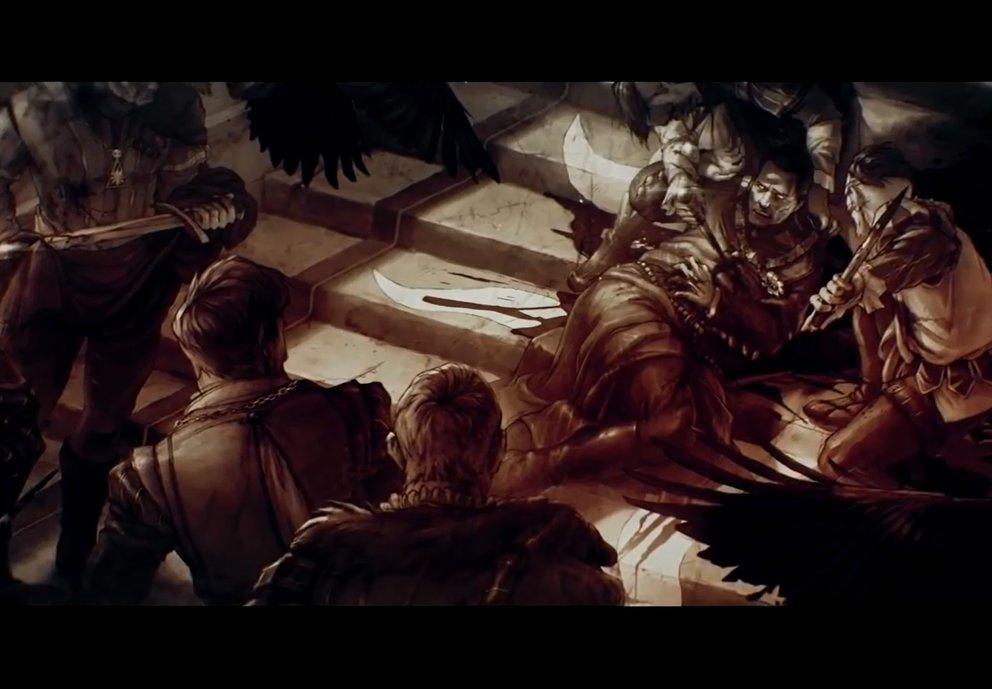 Kein unwahrscheinliches Szenario: Emhyr fällt einem Attentat zum Opfer.