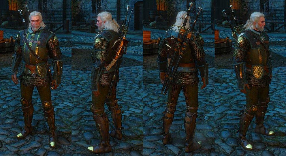 The Witcher 3 Verbesserte Greifen Rüstung
