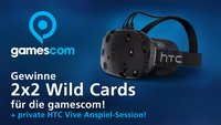 Gewinne 2x2 Wild Cards für die gamescom + eine private HTC Vive Anspiel-Session!