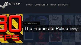 Steam: Framerate Police als neuer Kurator für 30-FPS-Begrenzungen