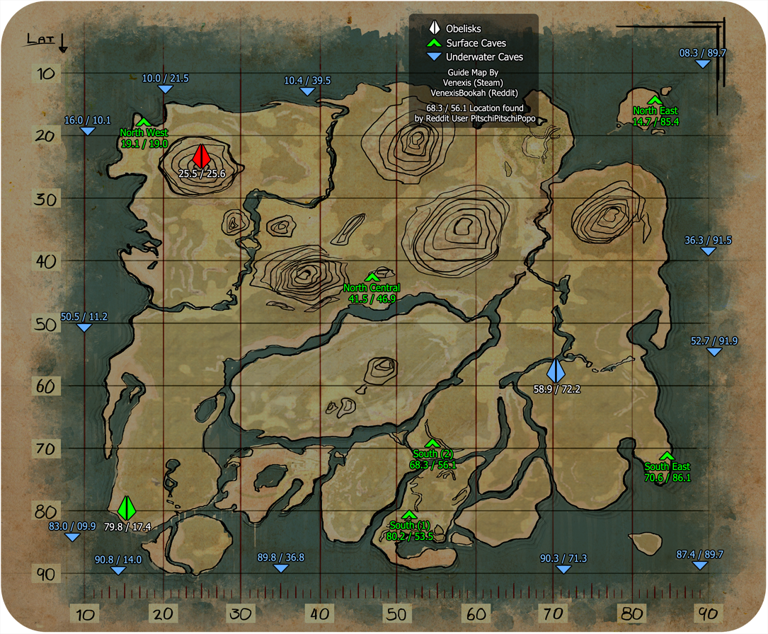 Koordinaten Karte.Ark Survival Evolved Alle Artefakte Mit Karte Und Koordinaten Zu