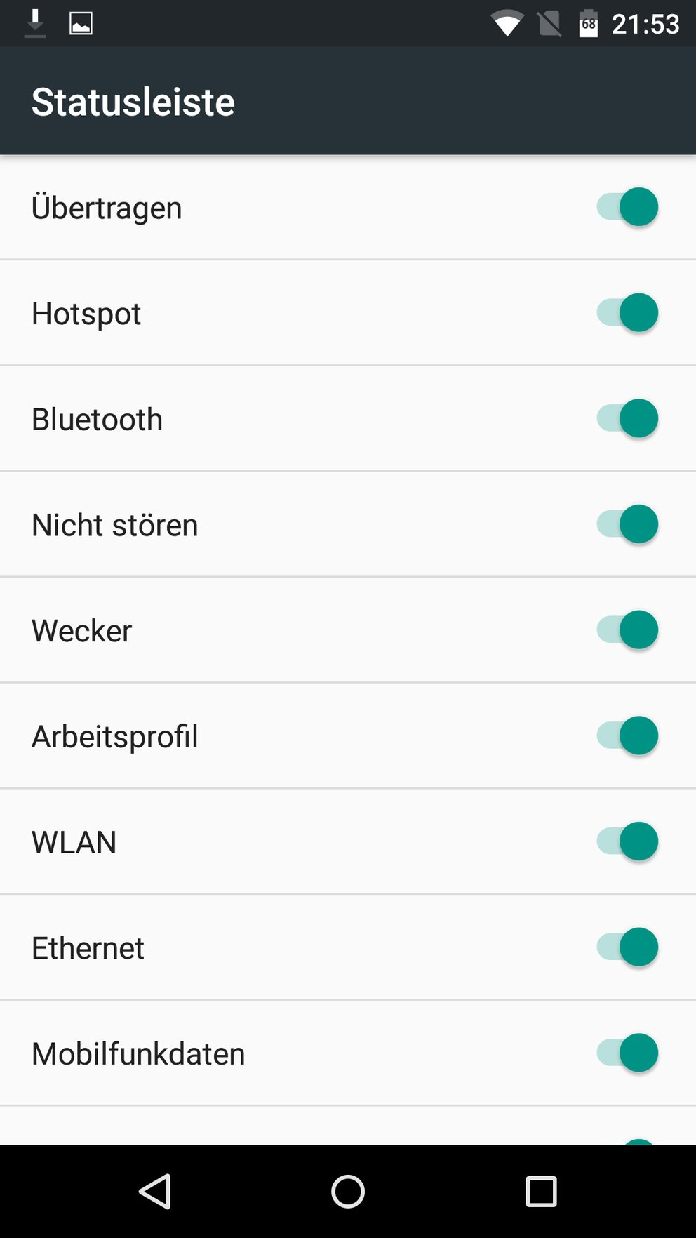 Android-M-Preview-2-SystemUI-Tuner-Statusleiste