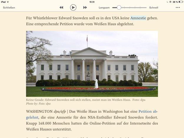 Pocket für iOS liest vor: Read-it-later-App jetzt mit Text-to-Speech