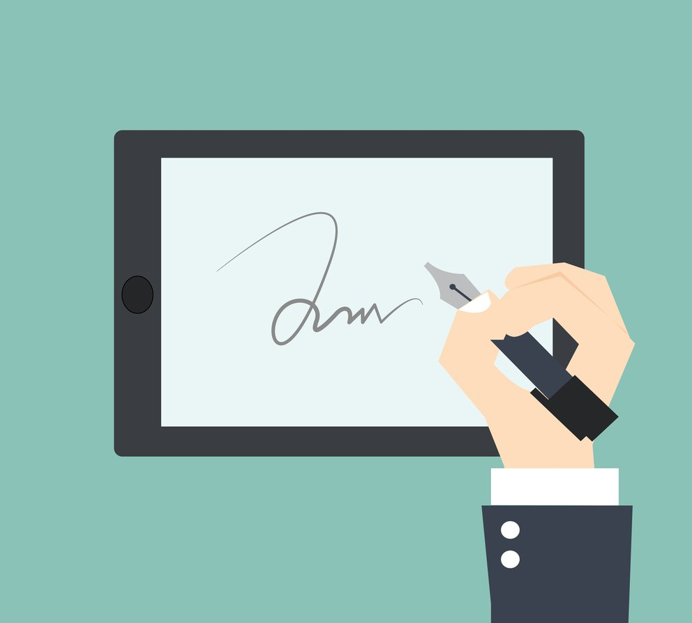 Digital Signature on Signpad