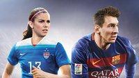 FIFA 16: Erste Frau Alex Morgan auf dem Cover neben Lionel Messi