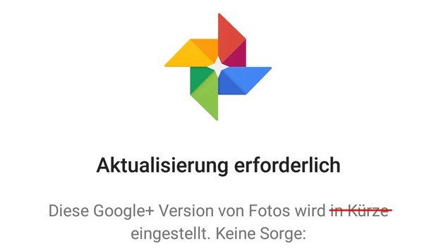 Google+ Fotos wird zum 1. August eingestellt